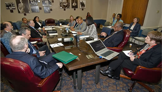 Deputy Assistant Secretaries Alma C. Hobbs and Robin E. Heard and other USDA directors and agency heads meet with AFL-CIO on National Union Listening Session on the Cultural Transformation of USDA.